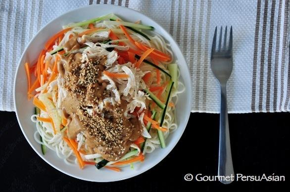 Shanghai Cold Noodles With Peanut Butter Sauce