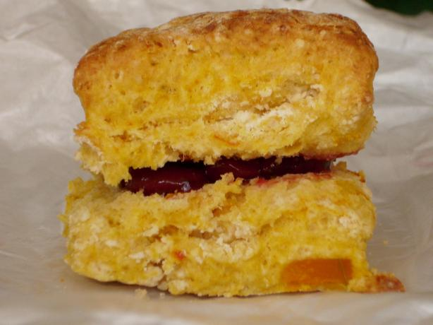 Pumpkin Scones With Jelly