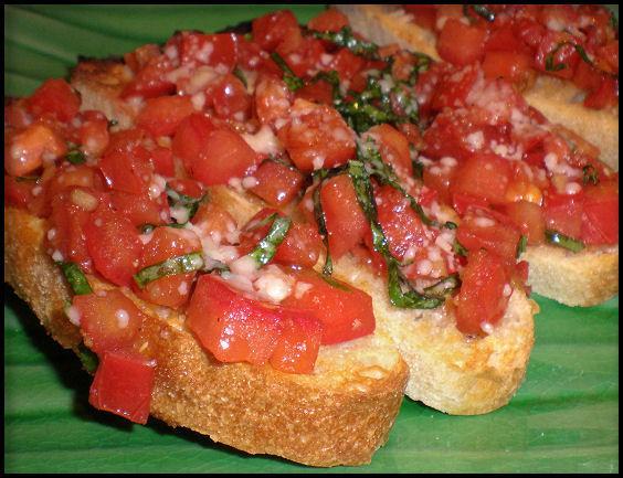 Tomato and Basil Bruschetta