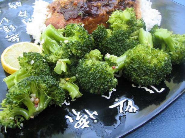 Microwave Lemon Garlic Broccoli