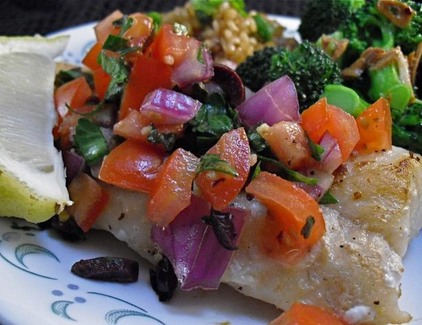 Cod With Mediterranean Salsa
