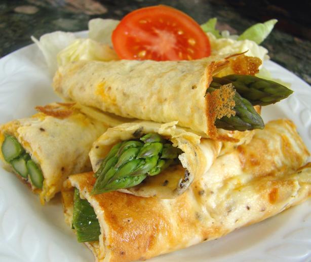 Asparagus Omelette Wraps