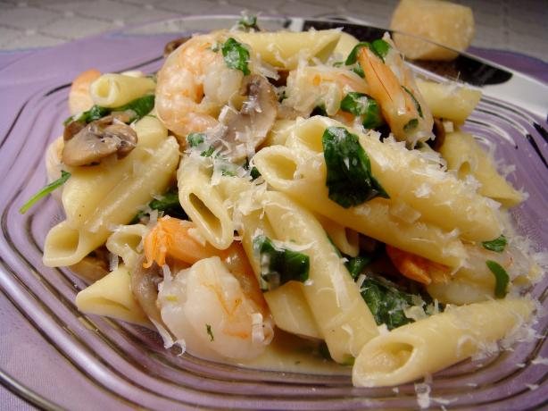 Creamy Shrimp and Spinach Pasta