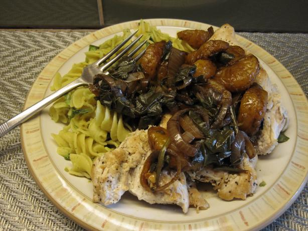 Chicken With Clementine Sauce & Avocado Pasta