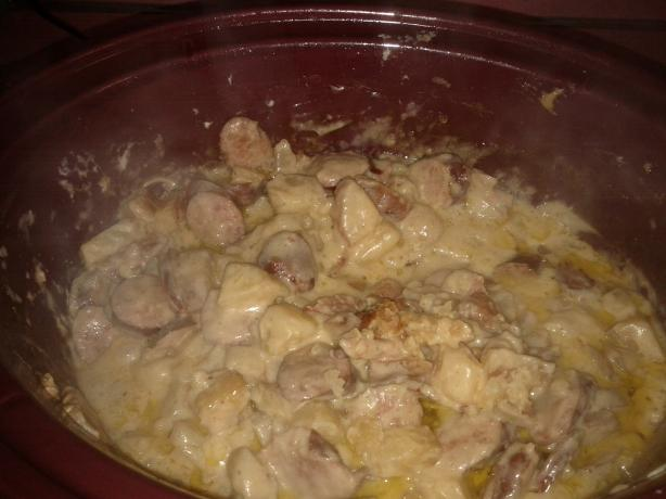 Stupid Easy Crock Pot / Slow Cooker Sausage & Potatoes