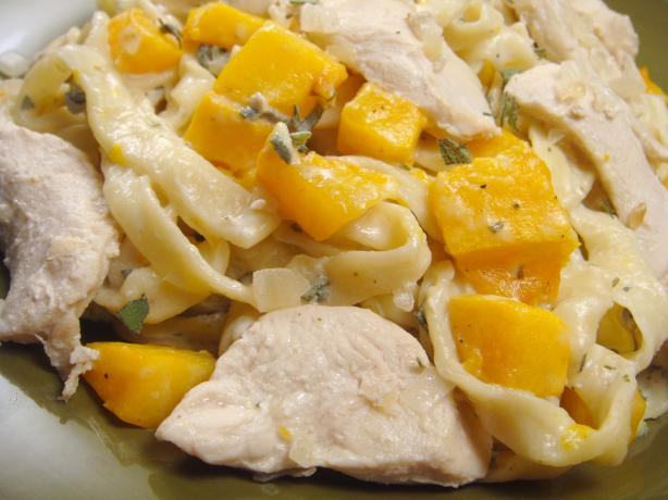 Chicken & Butternut Pasta With Creamy Sage Sauce