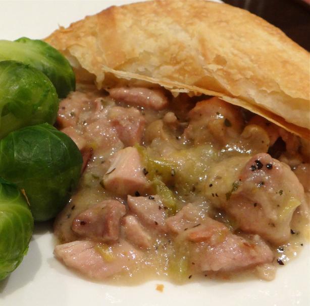 Chicken Bacon and Leek Pot Pie/Casserole