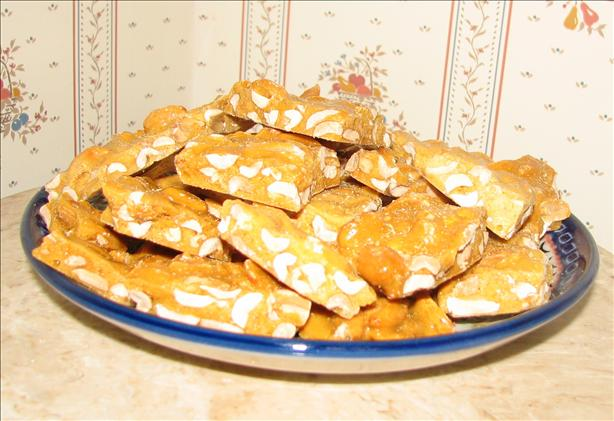 Microwave Peanut Brittle Candy