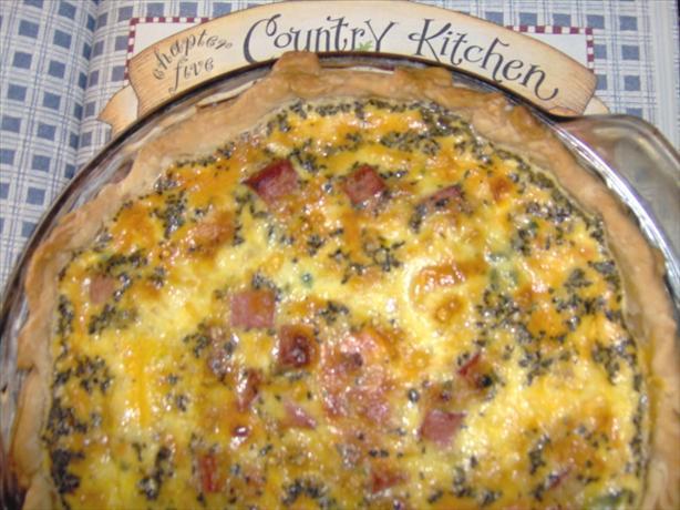 Cheesy Ham Quiche