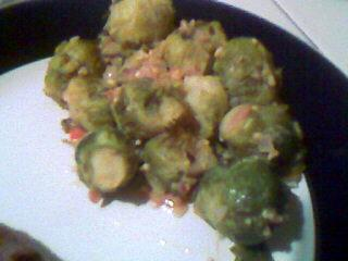 Brussels Sprouts in Onion/Mustard Sauce