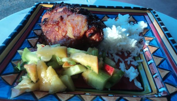 Peanut-Ginger Chicken With Fresh Fruit Salsa