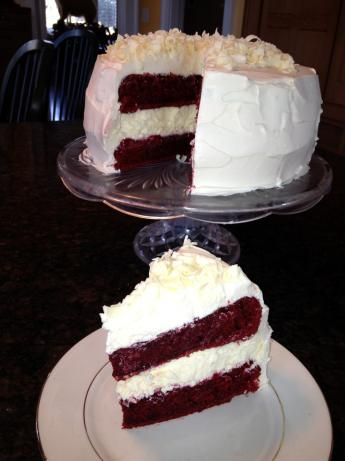 Red Velvet Cheesecake-Cake