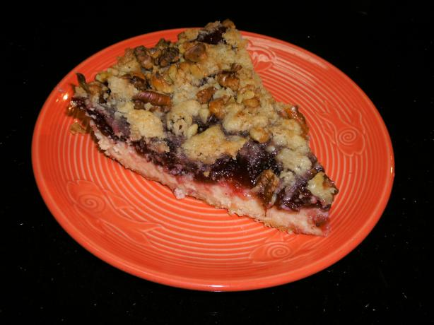 Cranberry Cream Cheese Crumb Pie