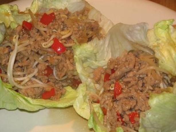 Oriental Minced Pork in Lettuce Leaves