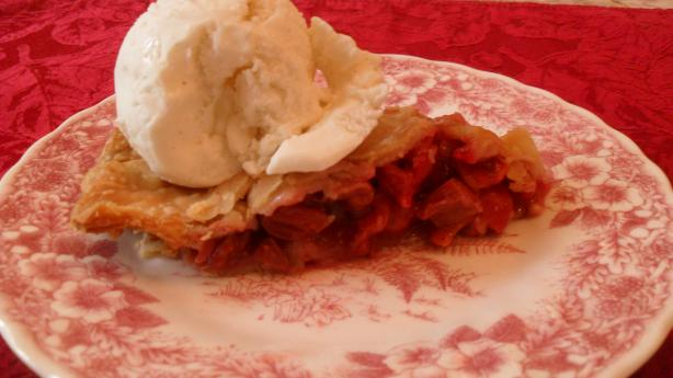 Fresh Cherry Rhubarb Pie