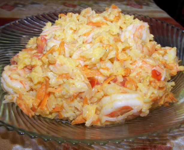 Nigerian Coconut Shrimp Rice