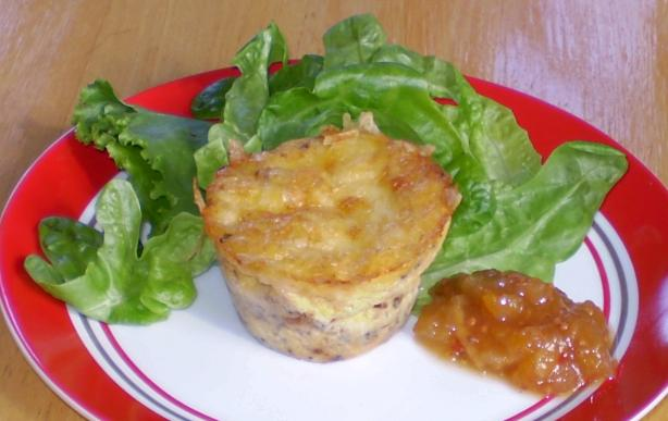 Crustless Leek, Bacon & Cheese Quiche