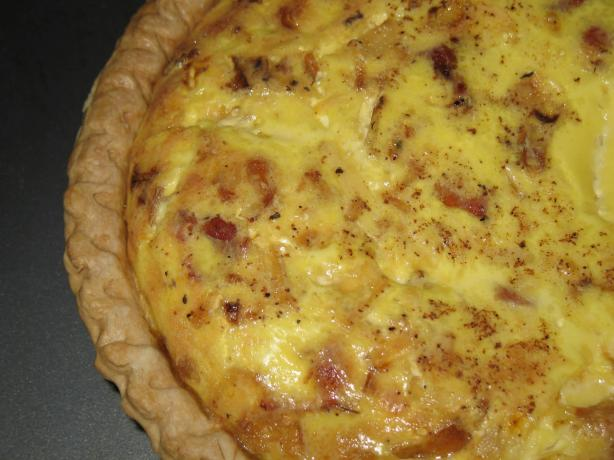 Low Fat Bisquick Crust Bacon and Cheese Quiche