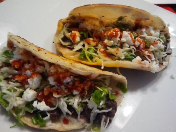 Crispy Black Bean Tacos With Feta & Cabbage Slaw
