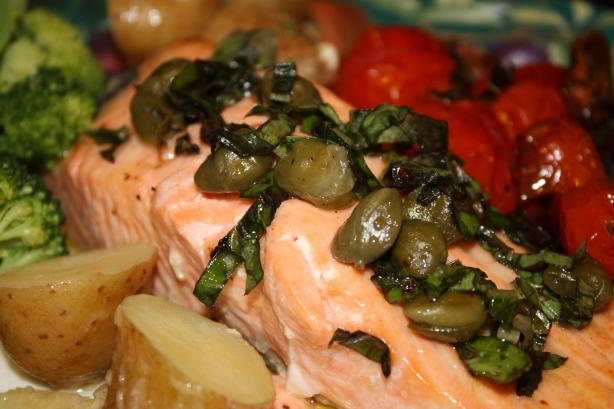 Baked Salmon With Caper Sauce