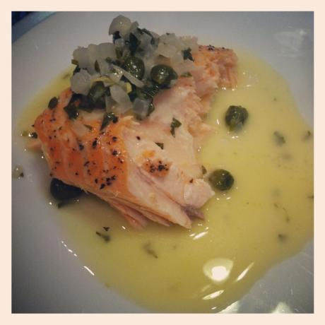 Salmon With Lemon- Butter -Caper Sauce