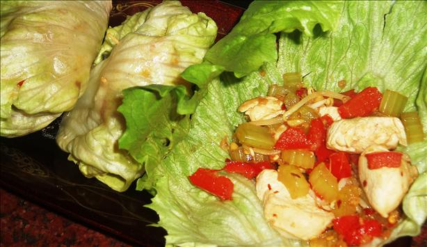 Szechuan Chicken (Or Tofu) in Lettuce Bundles (Solo Cooking)