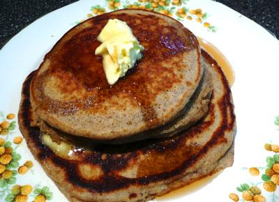 Whole Grain Pancakes That Don't Taste Like It!