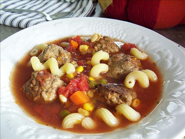 Lotsa Veggies Meatball Soup (Crock Pot)