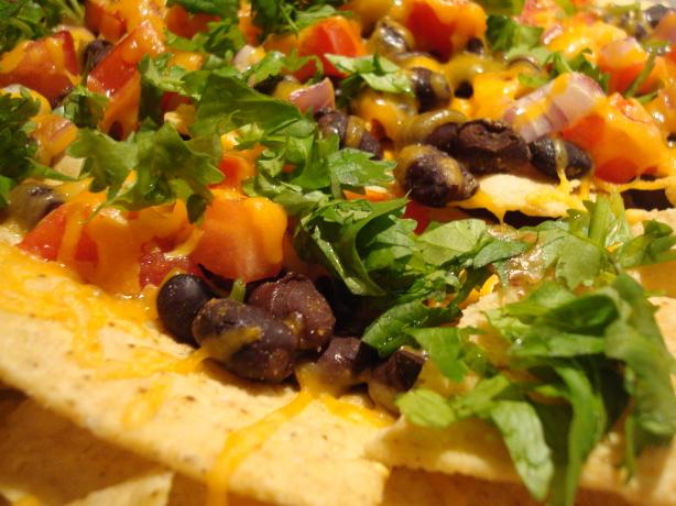 Black Bean Nachos With Chipotle Tabasco