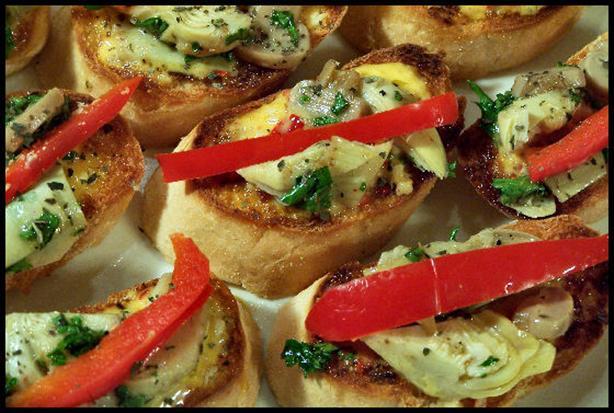 Amazing Artichoke Toasts