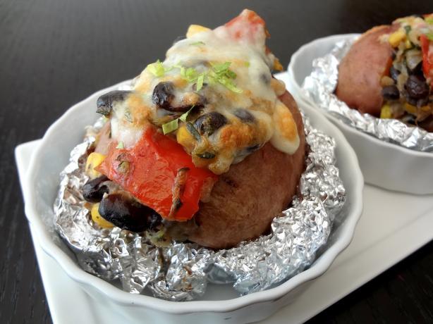 Creamy Veggie Stuffed Potato #RSC