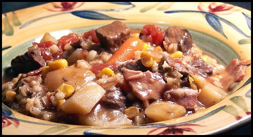 Crock Pot Beef Bacon and Barley Soup