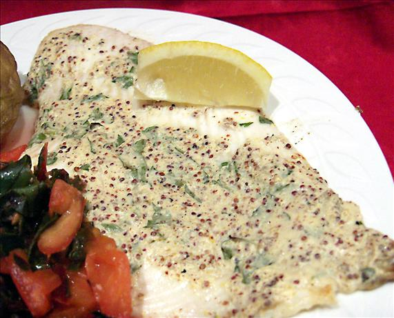 Broiled Sole With Mustard Sauce