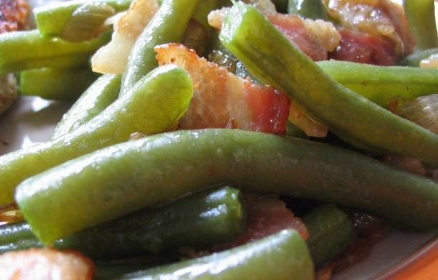 Green Beans With Bacon & Onion
