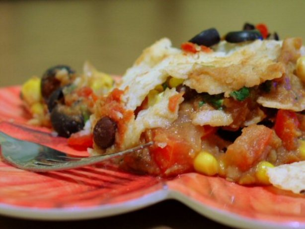 Mexican Lasagna Casserole (Vegan)