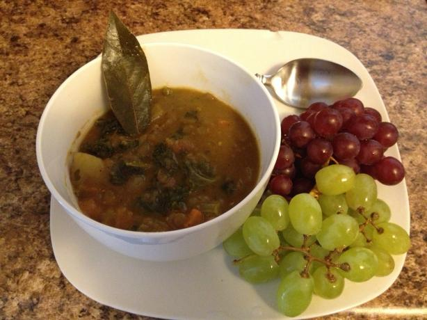 Split Pea and Lentil Soup With Vegetables