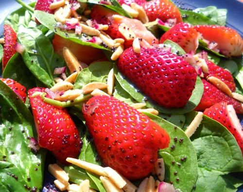 Strawberry Spinach Salad W/Poppy Seed Dressing