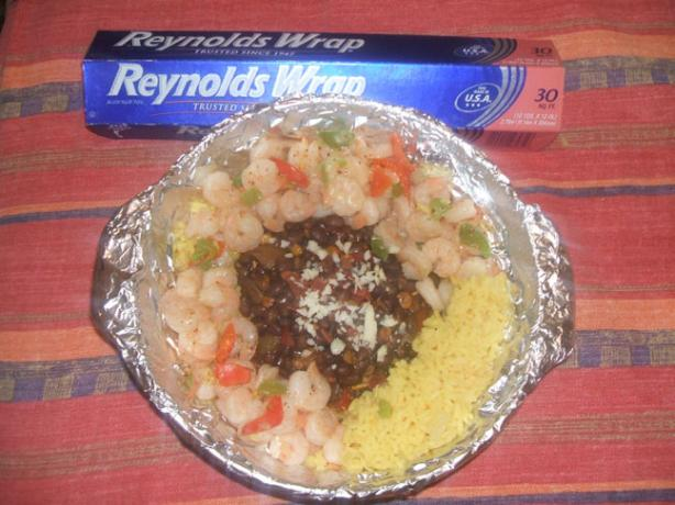 Black Bean Fiesta With Yellow Rice & Shrimp #RSC