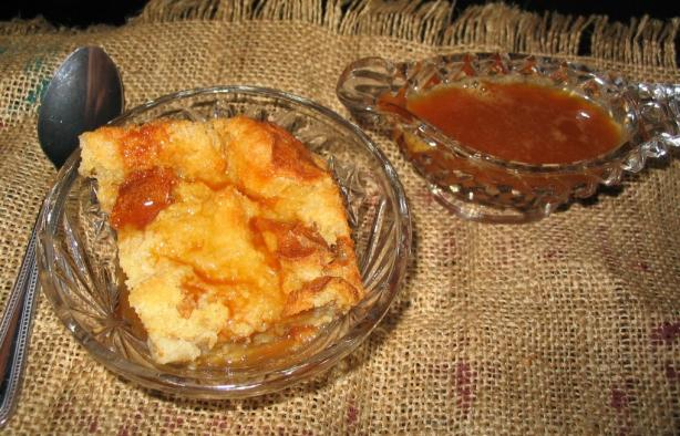Irish Cream Bread Pudding With Caramel Irish Cream Sauce