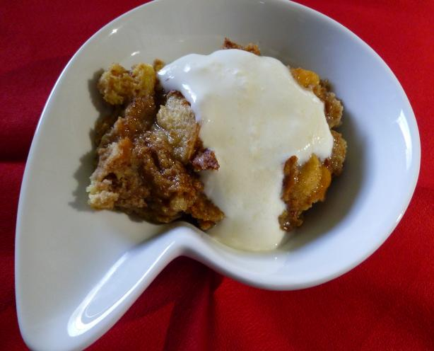 Drunken Bread Pudding With Amaretto Sauce