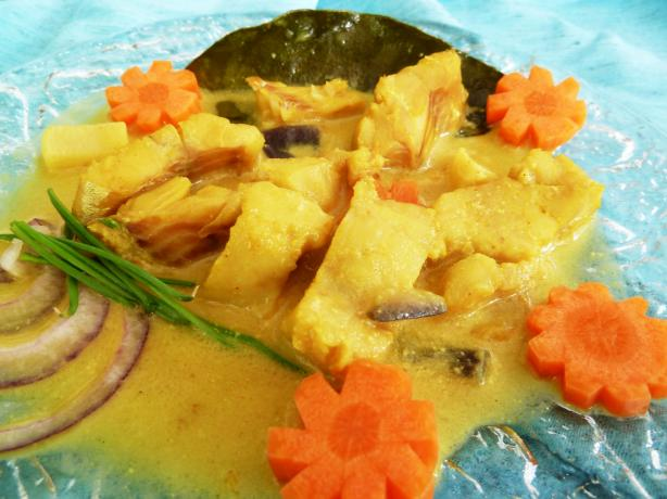 Cambodian-Style Fish Poached in Coconut Milk