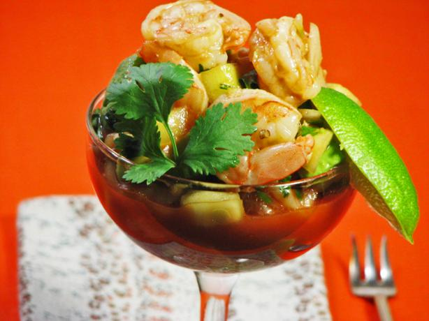 Traditional Mexican Shrimp Cocktail