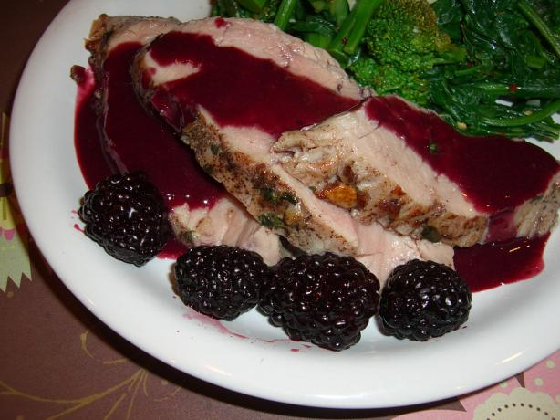 Pork Tenderloin With Blackberry Mustard Sauce