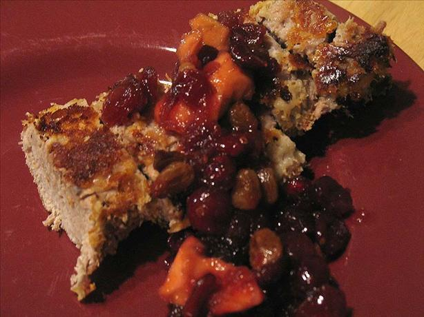 Almond Pork Tenderloin With Dried Cranberry-Apple Conserve