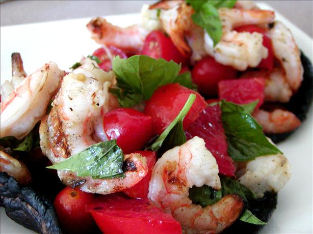 Grilled Shrimp With Portabellas