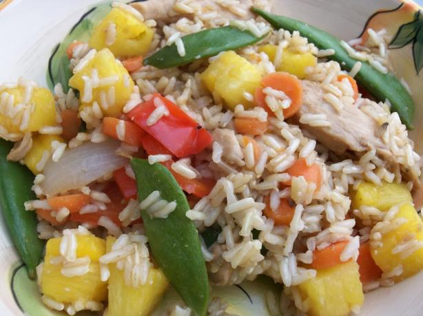 Loaded up Sweet & Sour Chicken With Brown Rice (Lite-Bleu)