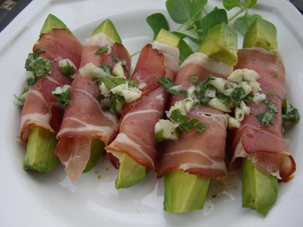 Avocado Wrapped in Prosciutto