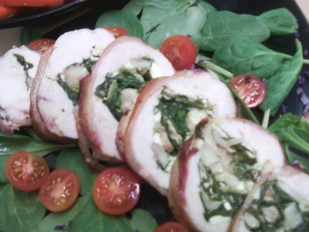 Bacon Wrapped Stuffed Chicken (Gluten Free)