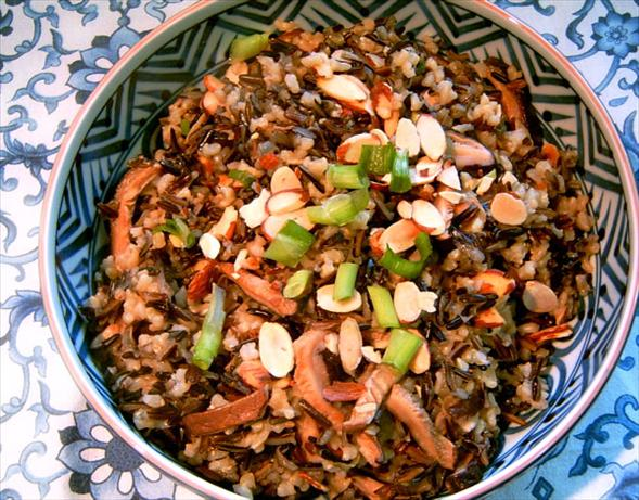Wild Rice With Shitakes and Toasted Almonds