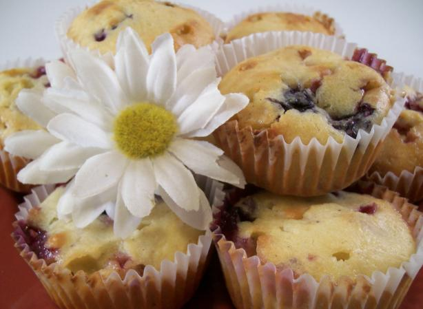 White Chocolate and Mixed Berry Muffins